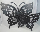 Special Butterfly Metal Cutout Wall Hanging, Metal Art, Set of Two