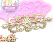 Large Floral Flourish Medallion Silicone Mold 452L Cake decoration topping Fondant Chocolate icing Melts Sugar Chocolate treats BEST QUALITY