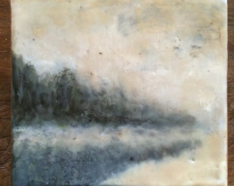Encaustic  Block, Dreamy