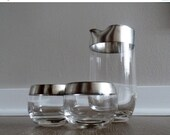 60% OFF Vintage Dorothy Thrope Cocktail Set Thick Soild Silver Band Detail