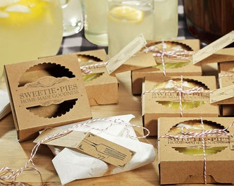 Wedding Favor Boxes Mini Pie Packaging Kits Ideal for Wedding Favors, Party Favors and Special Event Mini Pie Box Packaging
