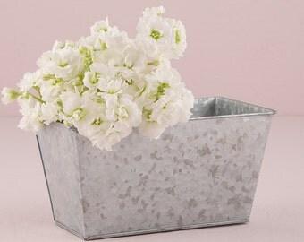 Floral Planter, Flower Planter, Galvanized Tin Planter, Party Planter, Wedding Planters, Wedding Reception Centerpiece Planters
