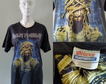 Vintage rock tee iron Maiden rock t shirt adult medium punk heavy metal garage rock gods