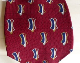 Bill Blass Black Label Vintage Imported Silk Tie ! Beautiful Red