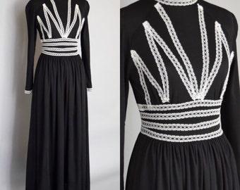 1970s Boho Maxi Dress