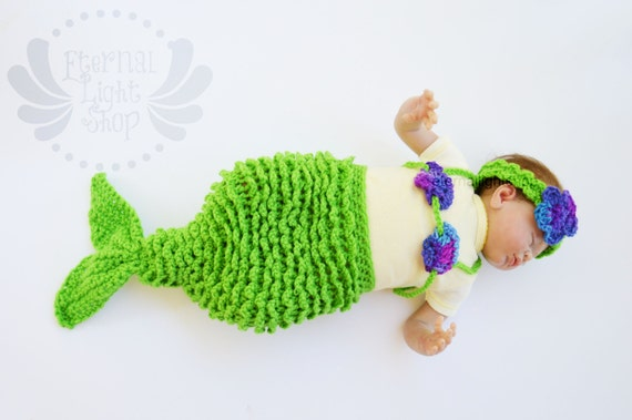 ANY COLOR(S) Newborn Mermaid Prop Set