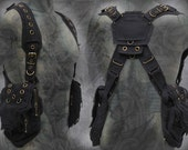 Viking Shoulder Holster Bag ~ post apocalyptic steampunk neo tribal