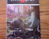 February 1952 Pennsylvania Game News magazine, Ned Smith River Otter Cover Art
