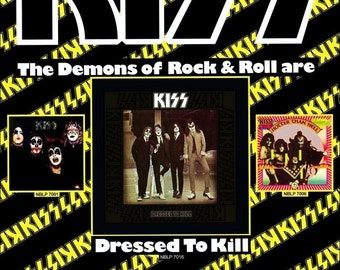 KISS Dressed To Kill Album Promo Reproduction Counter Top Stand-Up Display - KISS Memorabilia Collectibles Record Albums Gift Idea kiss76