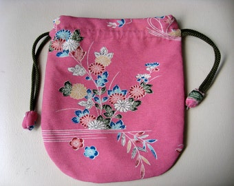 Pouch,Small Bag,Japanese  Silk kimono fabric #28