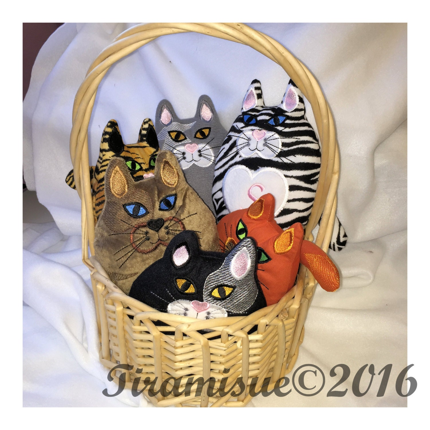 Crazy cat lady starter kit machine embroidery design for the