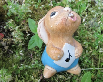 "Vintage PenDelfin Figurine, ""Rolly"" with Blue Shorts & Sheet Music, circa 1959 - Not Perfect, just Adorable...."