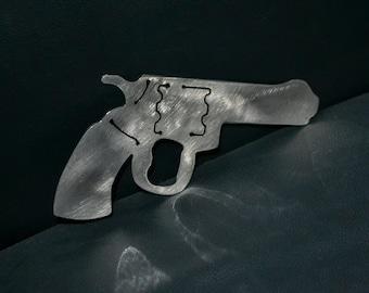 Fake Gun Metal Bottle Opener, Pistol, Toy Gun, Custom Bottle Openers