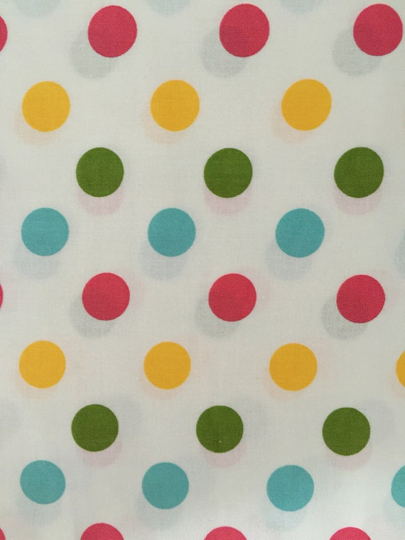 Medium Multi-Colored Polka Dot Wide Back Fabric from Riley Blake Designs