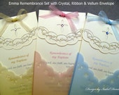 Remembrance, Emma remembrance (Crystal or Pear) - this exclusive card is perfect for any religious event.