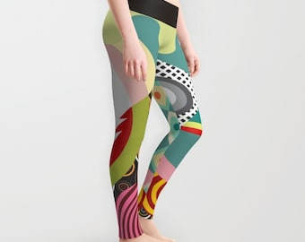 Printed Leggings, Colourful Leggings, Cute Leggings, Womens Leggings, Yoga Leggings, Workout Leggings,  Active Wear