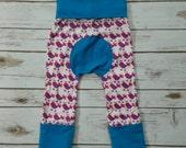 Maxaloones Grow With Me Pants Pink Birds