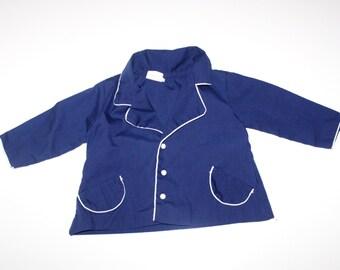 VINTAGE LITTLE BOY Navy Nautical Blazer / Suit Jacket - Easter Boy