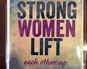 Handmade Tile Coaster - Strong Women