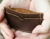 Slim Leather Wallet, Minimal Mens Leather Wallet, Modern Slim Leather Wallet, Free Engraving