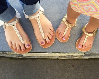 Mommy and Me Braided Sandals
