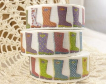 Multicolor Rain Boots Washi Tape - QQ1483