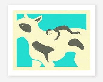 Giclée Fine Art Print, Minimal Dog, Wall Art by Jazzberry Blue