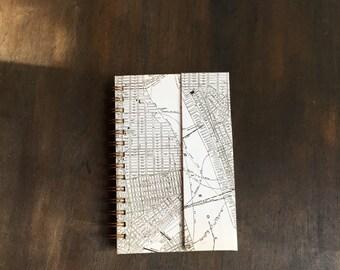 Customizable Downtown Manhattan Map Handmade Return Visit Book