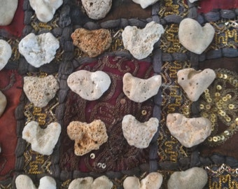 30 Medium Heart Shape Beach Stones, Home, Garden, Wedding