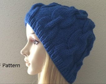 PDF Pattern, How To Knit A Chain Link Hat
