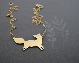 Gold Fox Necklace