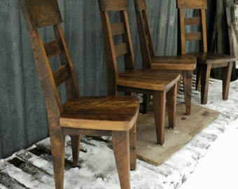 Reclaimed Barnwood Backed Dining  Chair