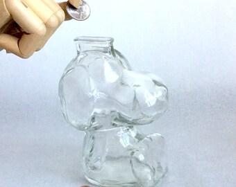 Vintage glass Snoopy bank-ADORABLE!