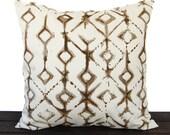 Pillow, Throw Pillow, Pillow Cover, Cushion, Decorative Pillow, Tribal Caramel Brown Cream geometric traditional contemporary modern decor