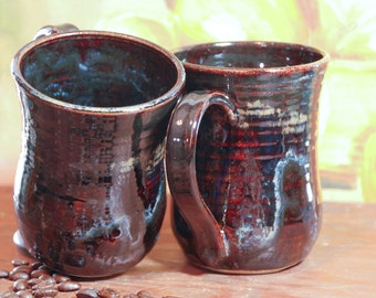 Handmade Pottery Stoneware Coffee Mug Set