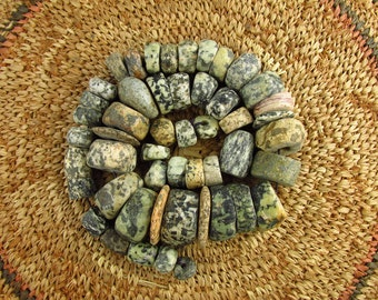 Antique Granite (Gneiss) Beads