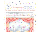 Alphabet Collection, nursery animals from the PlumbSweet Woodland, animal flashcards or prints, Whimsical ABC'S