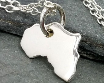 Africa Necklace 925 Sterling Silver - African Safari Adoption Charm Jewelry New