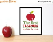 ONSALE Teacher Appreciation Gift The Best Teachers Teach from the Heart 8x10 PDF INSTANT Download