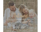 Fall Mini Session Template, Autumn Photography Marketing Templates, Marketing Board, Advertisement Template, Photoshop Templates - AD224