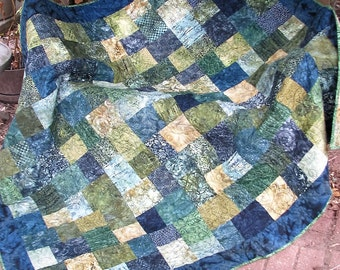 Quilt - Lap Quilt, Sofa Quilt, Quilted Throw - Into the Forest