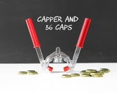 Beer Bottle Capper & 36 Caps - Home Brewing Supplies