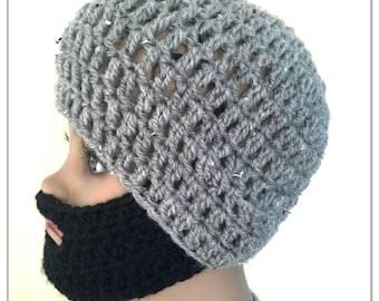 Boy beard hat todlder crocheted,knitted hippy,boho,SlOUCH or FITTED beanie,unique designer,kids gifts,bearded winter face mask snow ski hat