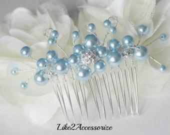Champagne Pearl Hair Comb, Bridal Headpiece, Wedding Hair Accessories, Swarovski Pearls Hair Comb Bridal Hair Fascinator Bridal Wedding Comb
