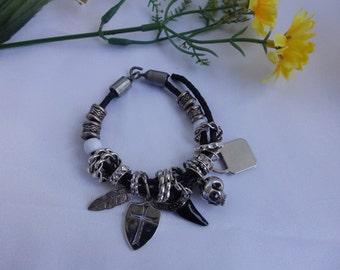 Skulls and cross bracelet