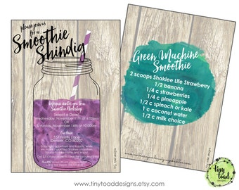 Smoothie Workshop Invitation, DIY Printable, digital file (item 1500)