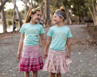 Girls BFF Besties Best Friends Forever Shirts-pair