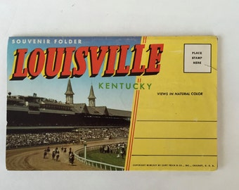 LOUISVILLE Kentucky Souvenir Folder / Vintage LouisvilleSouvenir Booklet unused, Good condition