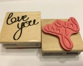 Love you rubber stamp, 50 mm (SB2)