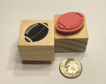 small football rubber stamp, 23 mm (BB4)